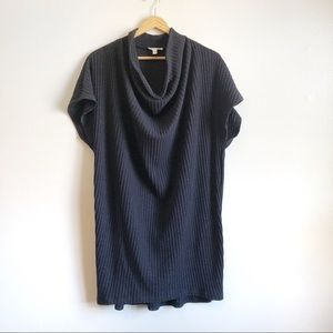 UO Silence & Noise Ribbed Gray Cowl Neck dress